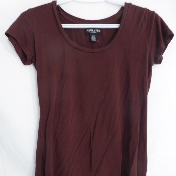 REVAMPED BY SIRENS, medium, plain brown tee BNWOT